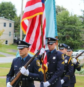 Color guard at a Newark 9/11 ceremony (City of Newark)